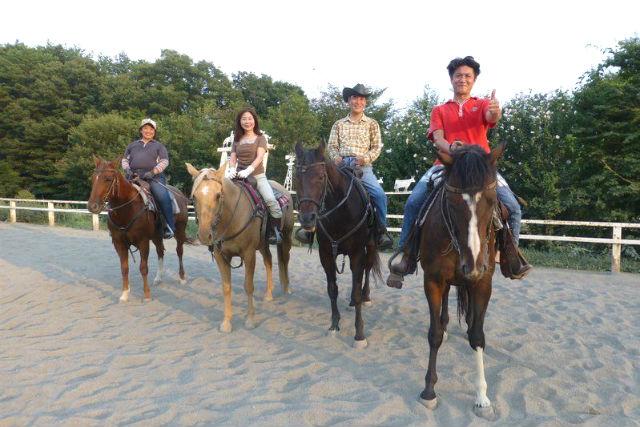 【山梨・小淵沢・経験者向け・乗馬体験】120分乗馬を楽しめる贅沢プラン!外乗ロングコース