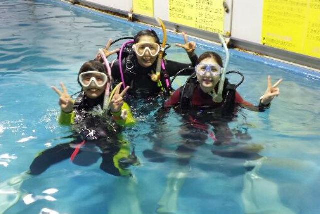 【石川県野々市・体験ダイビング】室内プールで、安心してダイビングにトライ!