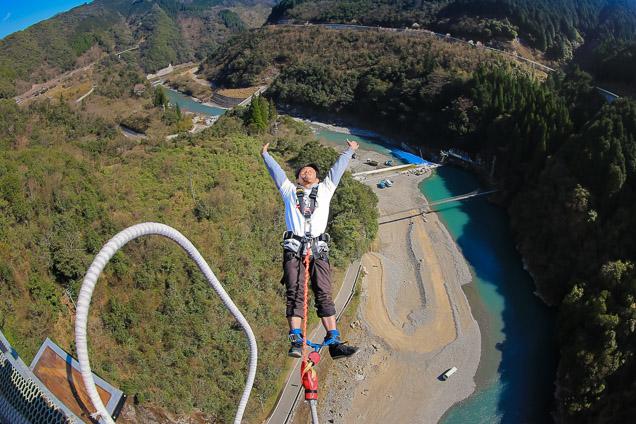【初めての方限定】熊本・五木村・バンジージャンプ(高さ66メートル、九州唯一のブリッジバンジー)