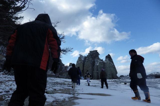 【青森・エコツアー】冬の仏ヶ浦ウォークガイド(1~2月)