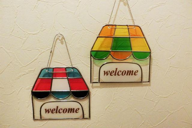 【大阪府和泉市・グラスアート】かわいいハウス型!ウェルカムボードを作ろう