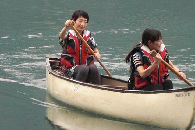 【長野・青木湖・カヌー】2人乗りカナディアンカヌー体験!湖上デートにおすすめです