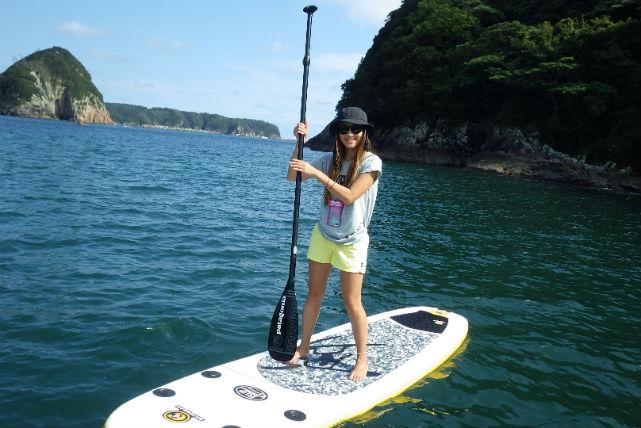 【静岡・SUP】おだやかな鍋田浜海岸で、海上散歩!初心者向けSUP体験・2時間プラン