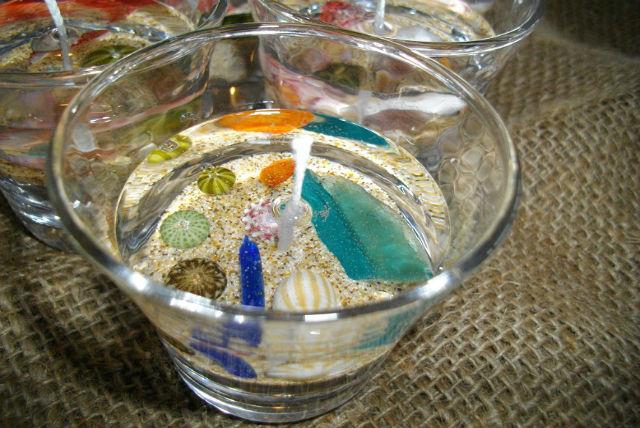 【京都府京丹後市・マリンクラフト】海の中を再現!自然の素材でキャンドル作り