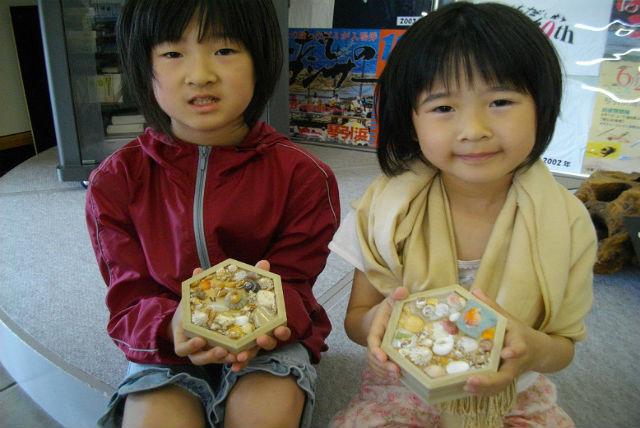 【京都府京丹後市・マリンクラフト】思い出をつめ込もう!海の素材で作る六角箱作り体験