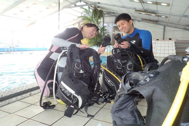 【栃木発・体験ダイビング】海へ行く前に、安心・安全なプールで体験ダイビング!