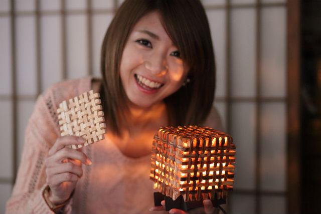 【三重県伊賀市・木工教室】やわらかい光。組子で作る癒しの行灯