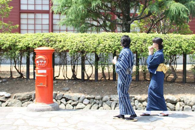 【三重・松阪・着物レンタル】松阪限定!松阪もめんのご当地着物でぶらり散歩