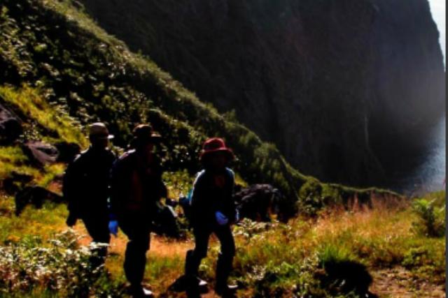 【知床・エコツアー】断崖の「虹の滝」を目指して歩く、自然探索ツアー
