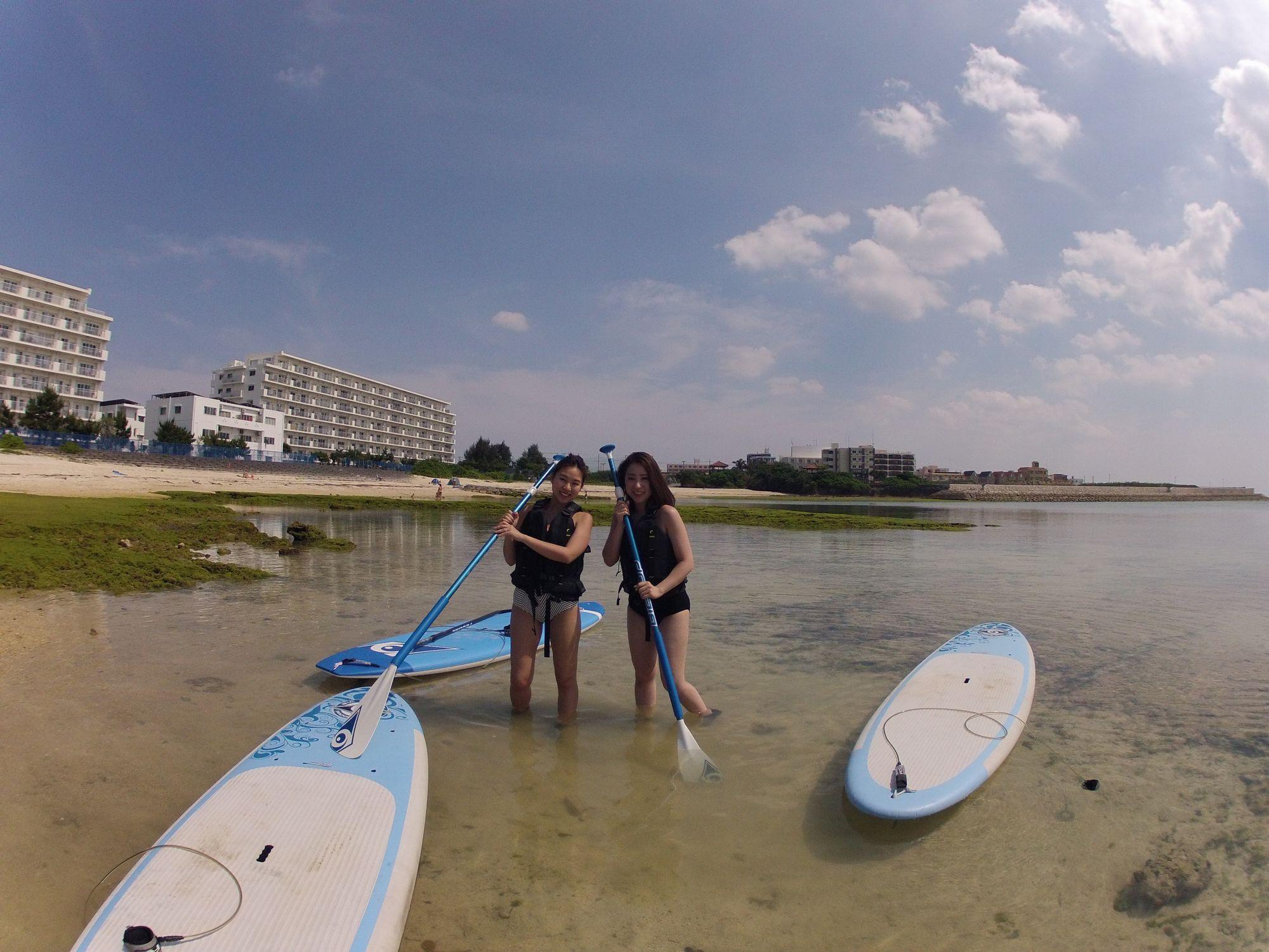 【沖縄・北谷・SUP】最大10時間レンタル!自由気ままに、沖縄の海を大満喫しよう