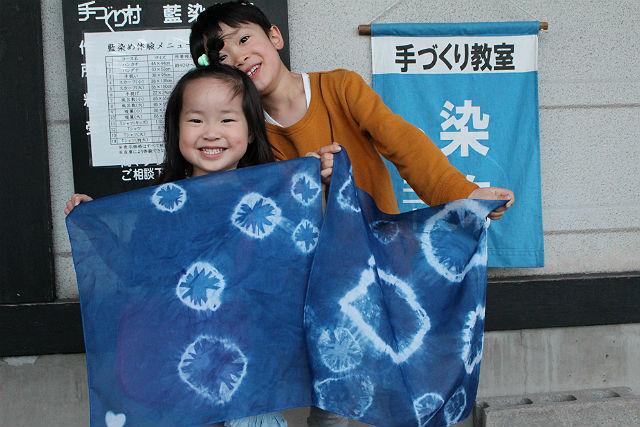 【岩手県盛岡市・藍染体験】職人こだわりの素材を使用!藍染でスカーフをアレンジ