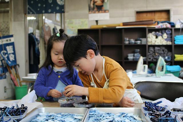 【岩手県盛岡市・藍染体験】鮮やかな発色!キッズTシャツの藍染め体験
