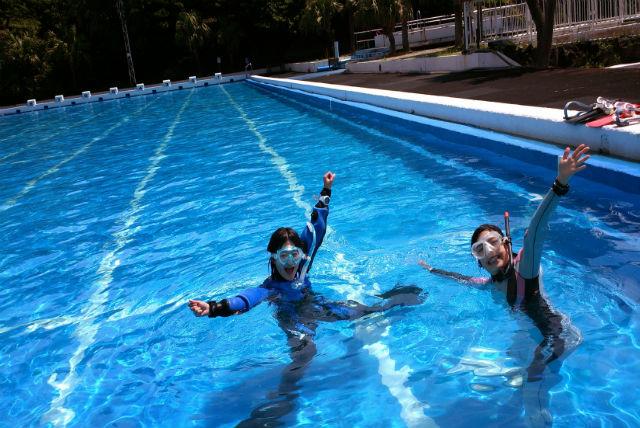 【栃木県小山市・プール・シュノーケリング】海への第一歩。まずはプールで自信をつけよう!