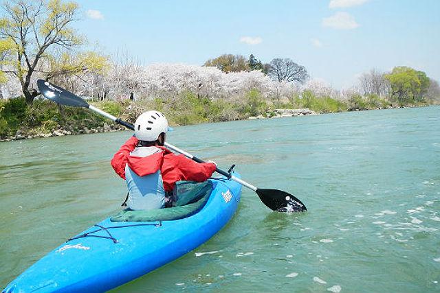 【長野・1日・カヤック】ランチ付きで、1日まったり!千曲川でカヤックを楽しむ