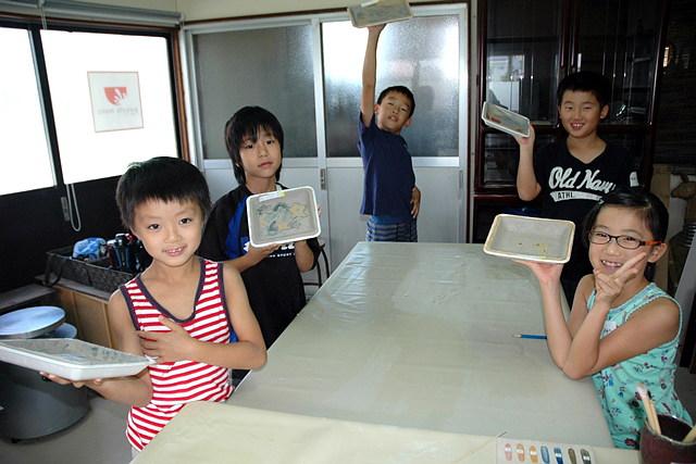 【大分市・陶芸体験】夏のこども陶芸教室。お子さまの創造力を引き出します
