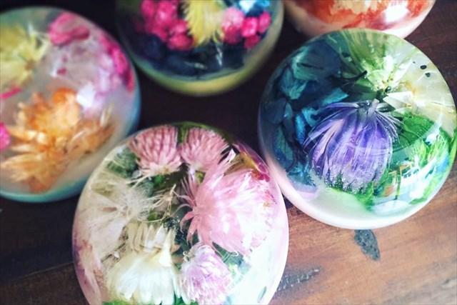 【徳島・住吉・キャンドル作り】色とりどりのお花を閉じこめて。アロマジェルキャンドル