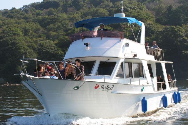 【静岡・浜名湖・チャータークルージング】快適大型クルーザーで40分の船旅に出発!