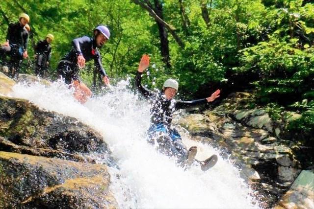 滋賀・大津市・シャワークライミング(半日・レベル1・明王谷コース)