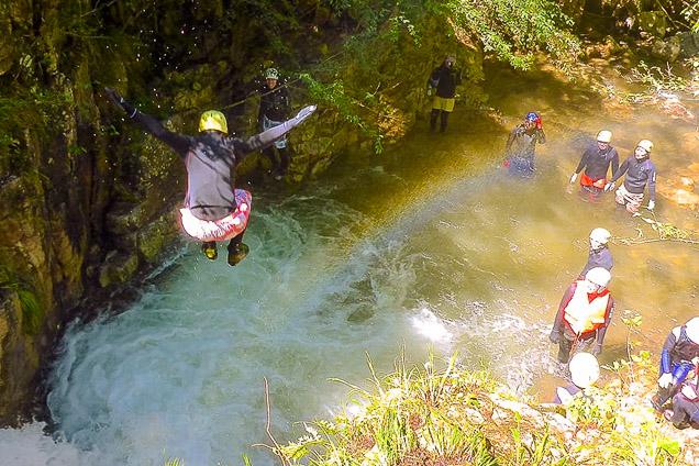神戸・六甲・シャワークライミング・蓬山峡コース(有馬温泉すぐ近く)