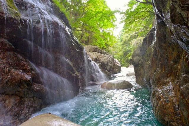 【奈良吉野郡・シャワークライミング】レベル2・前鬼川コース!碧い水と絶景を堪能!