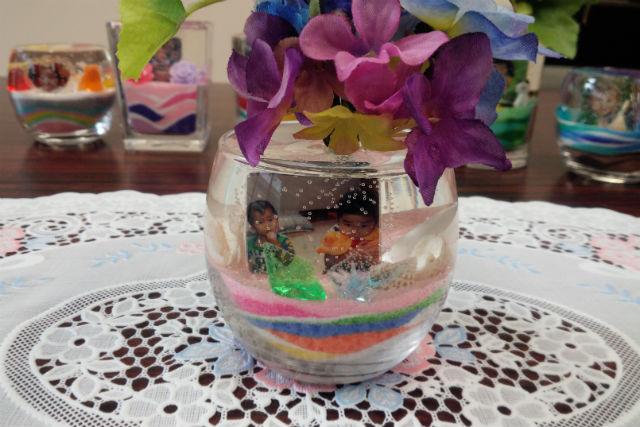 【長野県松本市・メモリアルジェルクラフト】思い出をグラスに飾る、手作り写真立て