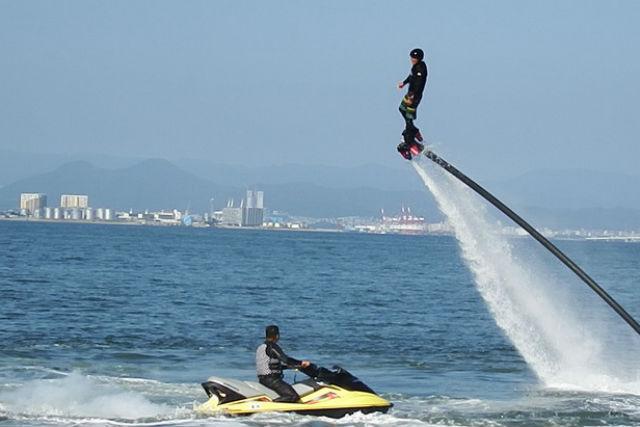 【福岡県能古島・フライボード】空中を自由自在に飛び回ろう!経験者向けプラン