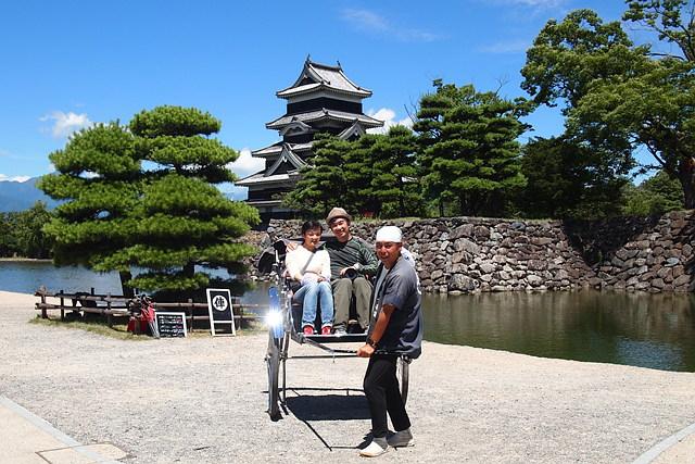 【長野・松本・人力車】俥夫の語りを聞きながら穴場スポットをひと巡り!内堀コース