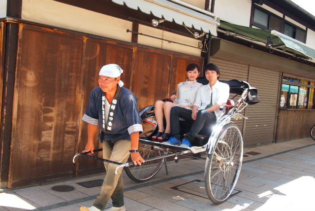 【長野・松本・人力車】情緒ある城下町を人力車でひと巡り!下町コース