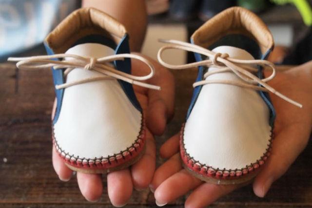 【福岡・靴作り体験】手のひらサイズが可愛い!ベビーシューズ制作1日コース