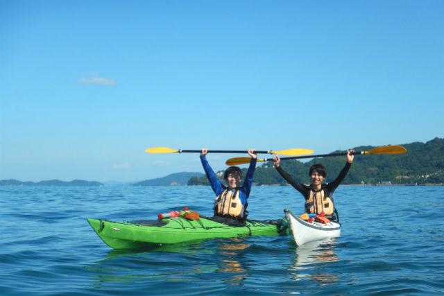 【山口・周防大島・シーカヤック】湖のように穏やかなビー玉海岸で楽しもう!