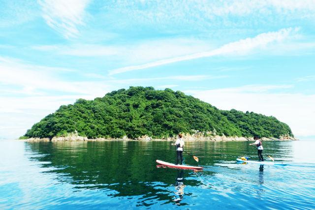 【山口・周防大島・SUP】片添ヶ浜で、ハワイから上陸した新しい遊びを満喫しよう!