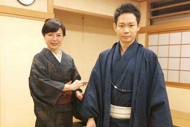 【大阪市・着物レンタル・男性】粋でいなせな和装体験!気軽に着物一式レンタルプラン