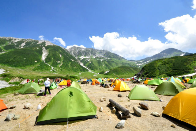 【富山・立山連峰・トレッキング】1泊2日テント泊。夜空も見れるトレッキング!