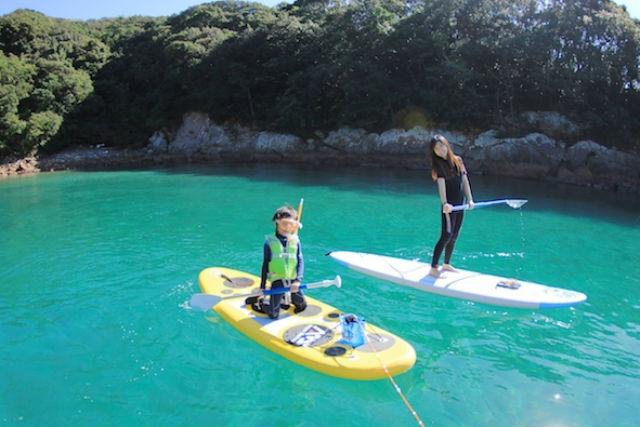 【徳島県海部郡・SUP】海の上も、海の中も堪能!SUPとシュノーケル体験プラン
