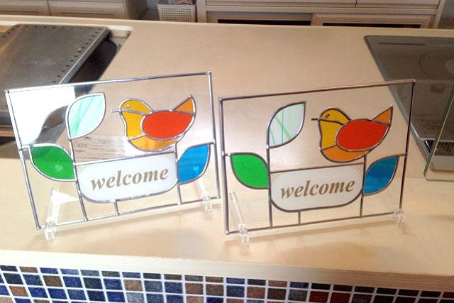 【香川・善通寺市・グラスアート】玄関やドアに飾ろう!ウェルカムプレート