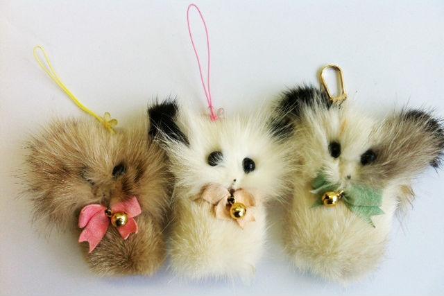 【北海道・七飯町・アクセサリー作り】北海道記念にオススメ!キタキツネの毛皮キーホルダー