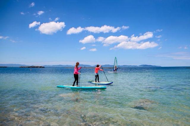 【鳥取・米子市・SUPクルージングツアー】水上を進む!SUPで大自然のパノラマを楽しもう!
