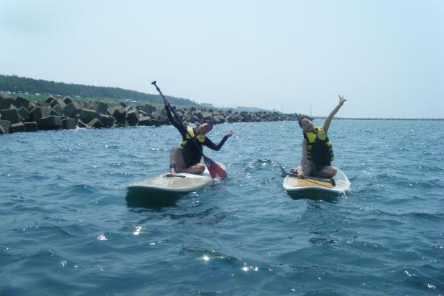 【新潟県・SUP】初めての方も安心!海の上をゆっくり散歩できるSUP体験