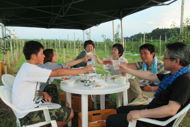 【福島・BBQ】農園ビアガーデン!大自然のなかで2時間30分飲み放題を楽しもう