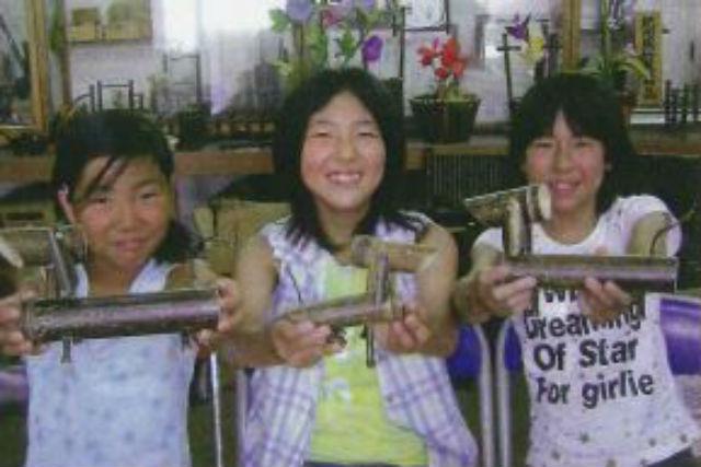 【和歌山・日高町・農業体験】竹切りから火あぶりまで!特産品の黒竹を加工しよう