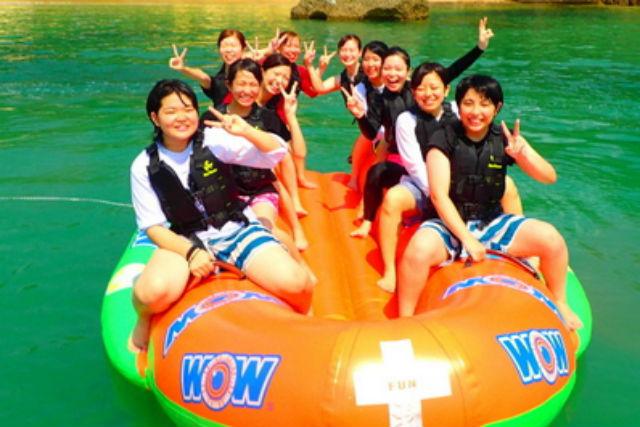 【沖縄・宜野座村・バナナボート】バナナボート&シュノーケルが楽しめる欲張りプラン!(オプション・BBQ)