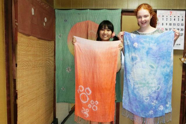 【京都市・染物体験】京鹿の子絞りに挑戦!個性が光るオリジナルショールを作ろう