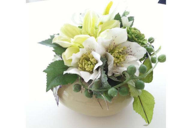 【札幌・フラワーアレンジメント】季節のお花でアレンジメント。シーズナルレッスン