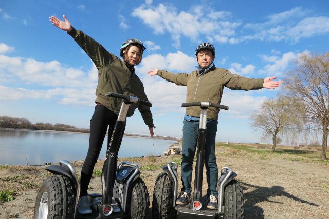 【茨城・セグウェイ】初心者にピッタリのセグウェイ体験ツアー!利根川の絶景も必見