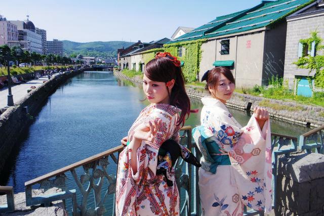 【小樽・着物レンタル】普段使いの着物で小樽の街へ!散策用着物レンタル・3時間コース
