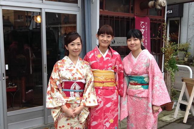 【小樽・着物レンタル】普段使いの着物で、小樽の街を歩こう!散策用着物レンタル・1日コース