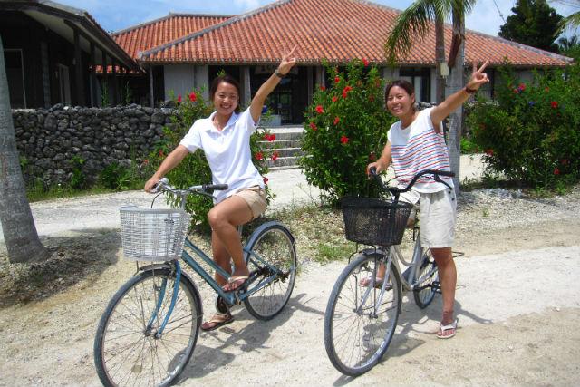 【竹富島・レンタサイクル】自然を楽しみながらゆったりと!竹富島をサイクリングで満喫!