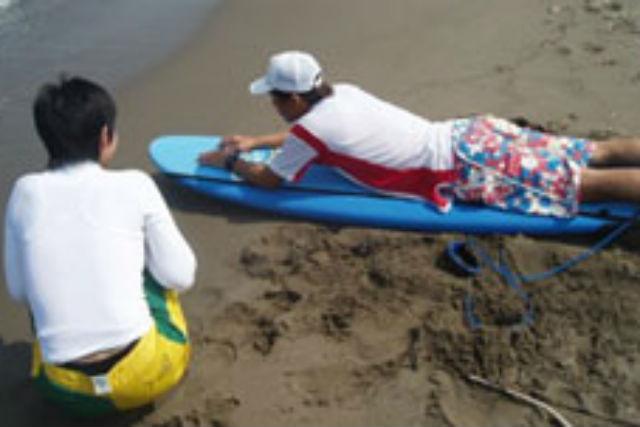 【新潟・上越市・サーフィン体験】目標はボードに立つ!サーフィン体験コース