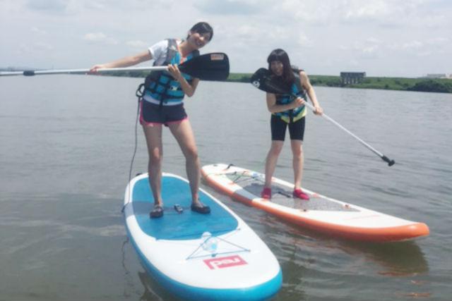 【愛知・祖父江・SUP】上達できる1日ツアー!木曽川でスタンドアップパドル体験