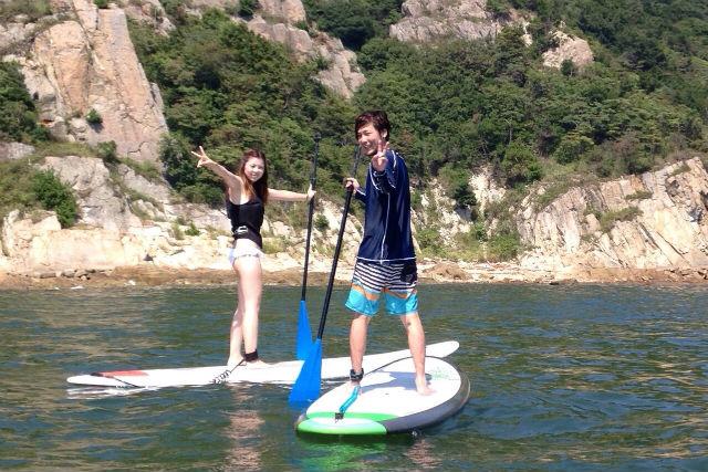 【兵庫県・姫路白浜海水浴場・SUP】海での楽しさ広がる!SUP初心者体験コース